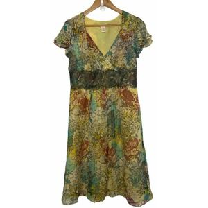 Sundance Size 6 100% Silk floral lace